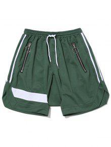 سستة جيب سروال الرباط - أخضر Xl