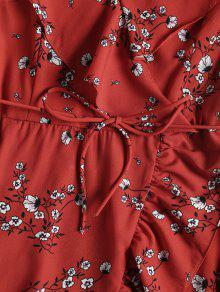 Vestido Rojo Escote Volantes Con 243;n S Pronunciado Y Cintur 7Pprwx7q