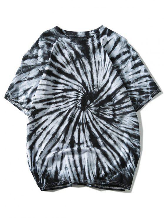 Camiseta de manga corta con efecto tie dye - Negro 2XL