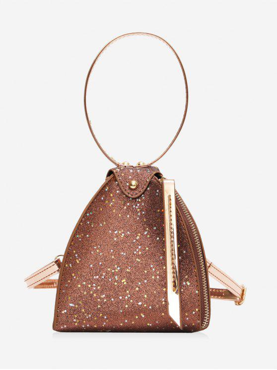 womens Glitter Stars Triangle Handbag - SUGAR HONEY