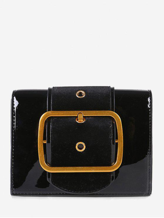مربع حقيبة باكلد كروسبودي - أسود