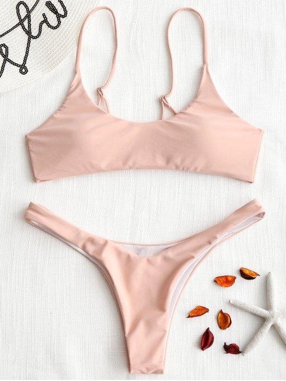 sale Pads High Cut Bikini Set - PINK S