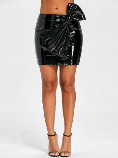 Bowknot Latex Mini Skirt - L