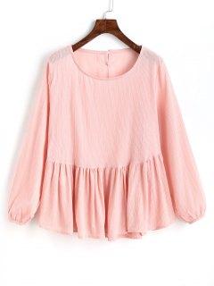 Blusa Sin Mangas De Cuello Redondo - Rosado Claro L