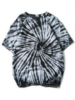Short Sleeve Tie Dye Tee - Black Xl