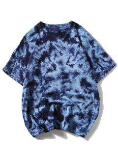 Casual Tie Dye Tee - Blue Xl