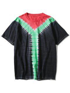 T-shirt Tie-Dye Tricolore - Noir L