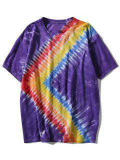 Rainbow Tie Dyed T-shirt - Purple 3xl