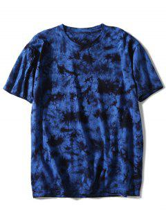 Camiseta Teñida Con Lazo De Manga Corta - Azul Profundo Xl