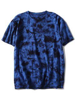 Short Sleeve Tie Dyed Tee - Deep Blue L