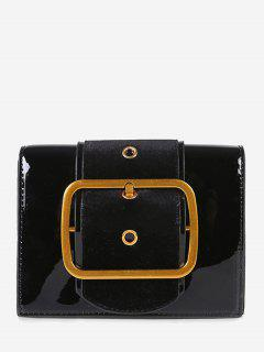 Square Buckled Chain Crossbody Bag - Black