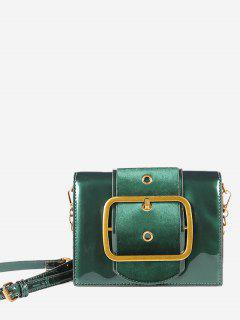 Square Buckled Chain Crossbody Bag - Green