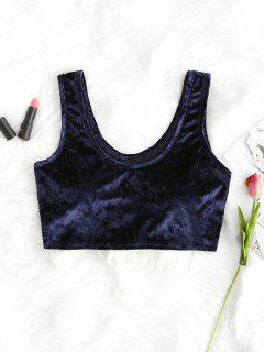 U Neck Velvet Tank Top - Azul Purpúreo L