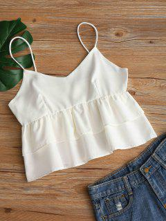 Plain Tiered Cami Top - White S