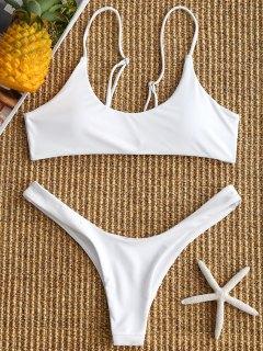 Pads High Cut Bikini Set - White M