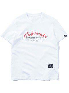 Lässiges Grafisches Gemustertes T-Shirt - Weiß L