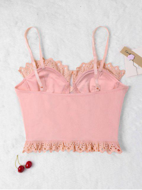 womens Stitched Trim Bustier Tank Top - PINK XL Mobile