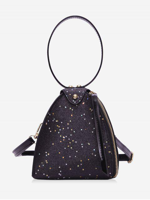 buy Glitter Stars Triangle Handbag -   Mobile