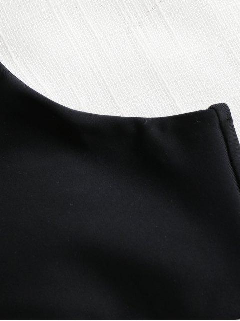 Pads High Cut Bikini Set - Negro S Mobile