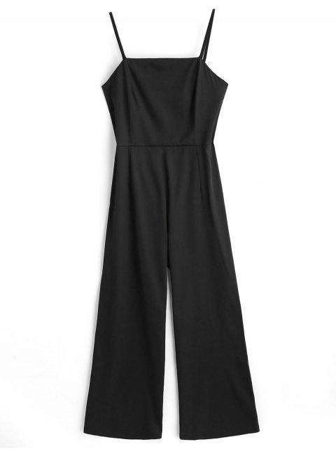 Combinaison à Bretelles à Taille Haute - Noir L Mobile