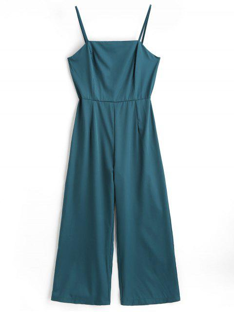 fashion High Waist Cami Jumpsuit - SEA GREEN S Mobile