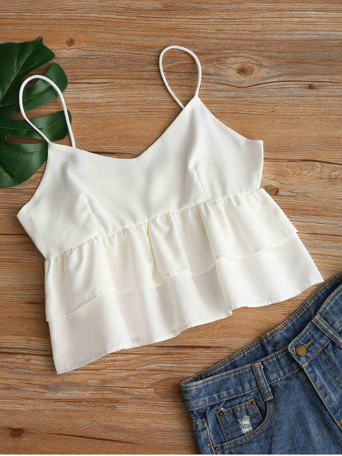 Plain Tierred Cami Top - Blanco S Mobile