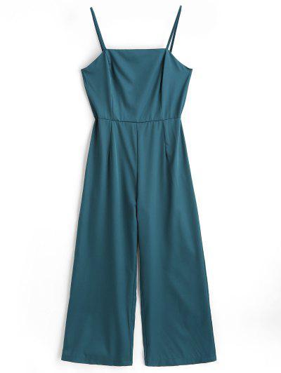 High Waist Cami Jumpsuit - Sea Green M