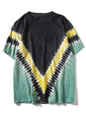 Camiseta Chevron teñida a lazo de manga corta