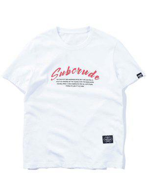 T-shirt à motifs graphiques décontractés
