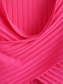 M Top Delantero Rosa Acanalado Roja Cruzado Cruzado xnOYHxP