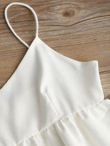 Top S Blanco Cami Tierred Plain nWvC4cxTHH