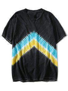 Tee Negro Zig Dye Tie Zag 3xl an448xFW