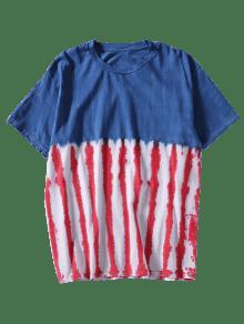 3xl Azul Rayas Camiseta Anudada A Te ida YBqUXax