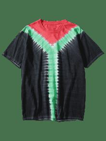 Dyed Camiseta Negro Tie Tricolor 3xl SCqwXFWzx