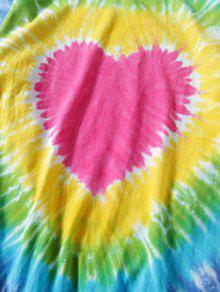 Corta 3xl De Dye Con Camiseta Tie Efecto Manga 7ExHfqw0