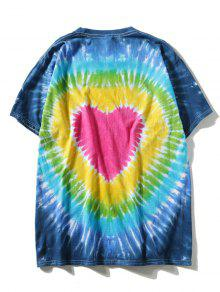 3xl Tie Dye Efecto Corta Camiseta De Manga Con wga8Zq