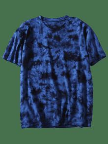 Azul Con 3xl Profundo Manga Te Corta De Camiseta ida Lazo 0UwEFq