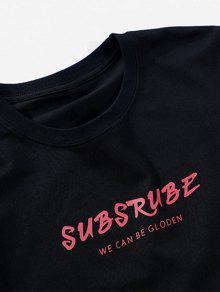 Camiseta Con Informal De Corta 2xl Estampado Manga Negro fIfwrnq1xW