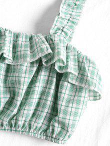 Cuadros Volantes Verde Con Sin S Y Mangas Camiseta Claro tXqwzU
