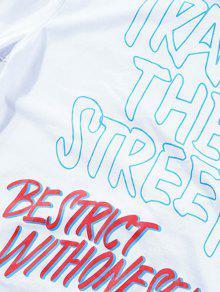 Blanco 225;fica Gr 2xl Corta Camiseta Manga RZWfIz