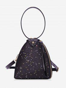 بريق النجوم مثلث حقيبة يد - أسود