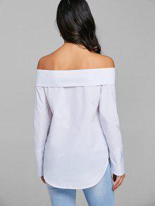 Doble Del Hombro Camisa Blanco La Xl Fuera WSERn4x5S