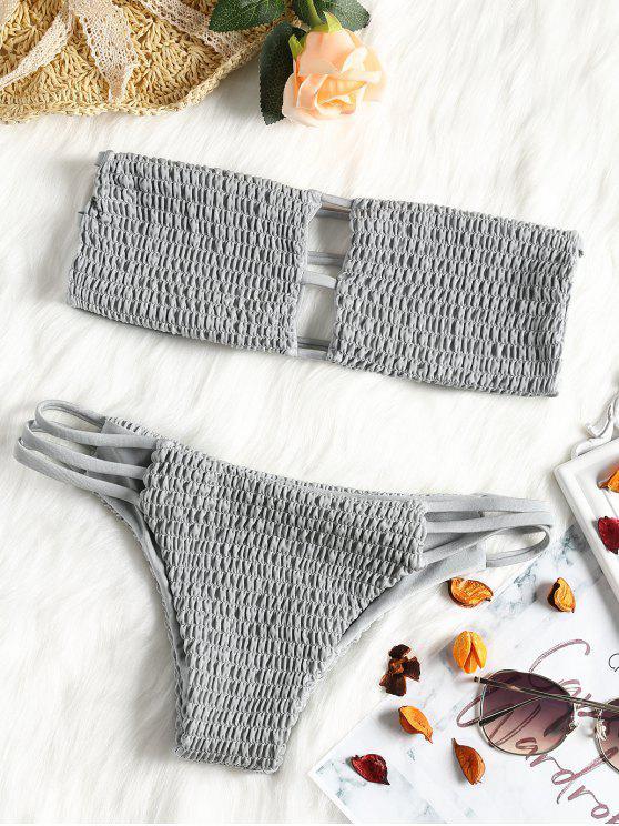 صدرية باندو مع سروال داخلي - اللون الرمادي M