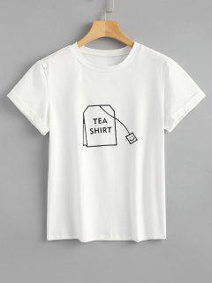 Tabs Graphic Cute T Shirt - White Xl