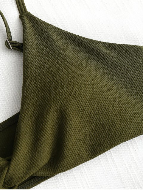 Conjunto de bikini de canalé Twist - Ejercito Verde M Mobile