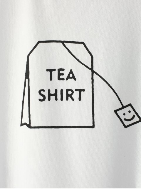 affordable Tabs Graphic Cute T Shirt - WHITE S Mobile