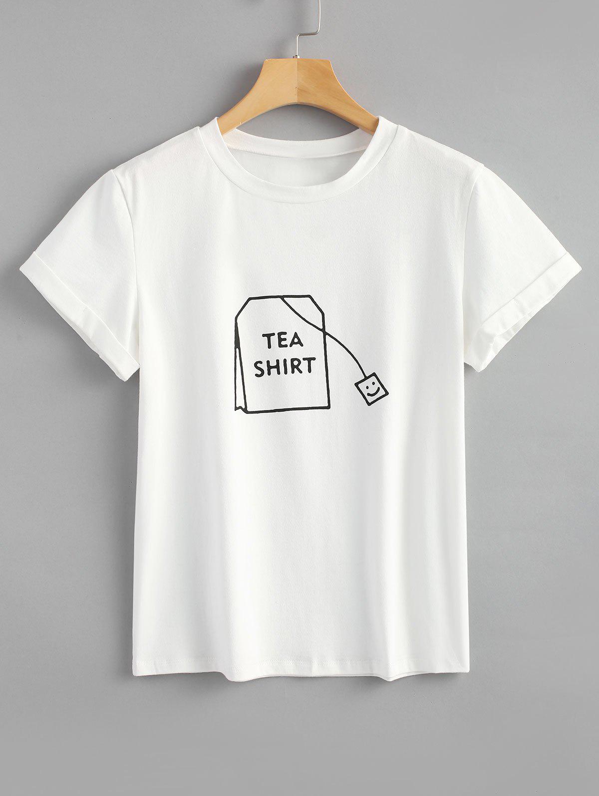 Tabs Graphic Cute T Shirt ZAFUL