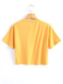 S Lluvioso Amarillo Corto Con Top Estampado qWXHIR