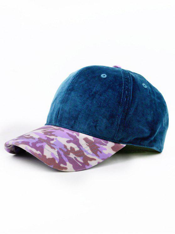 online Leopard Pattern Adjustable Baseball Cap - CERULEAN