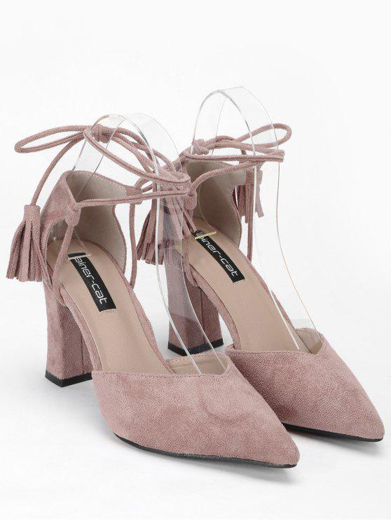 Pointed Toe Ankle Strap Sandals